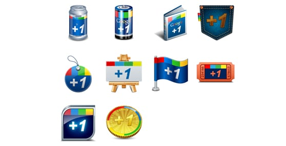 Google plus one icons