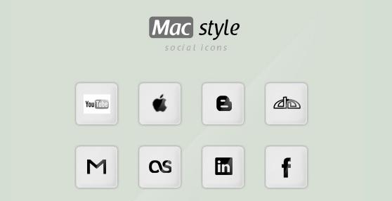 Mac style social icons