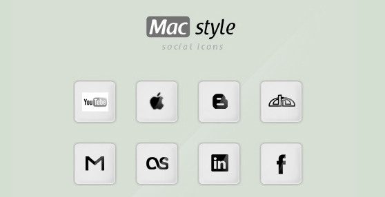 Mac style social icons