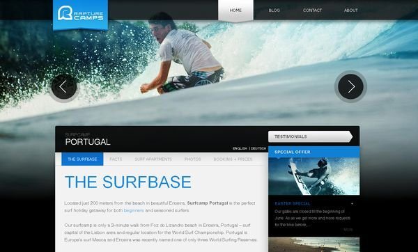 Showcase of Big Backgrounds in Web Design