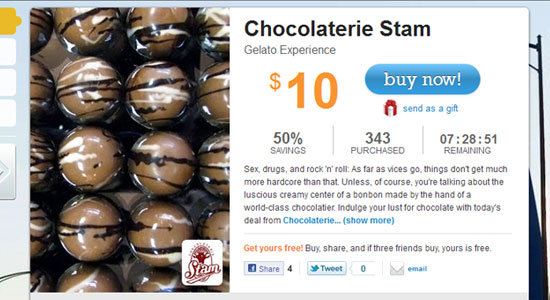 Chocolate - Groupon Style Website Trend - How it Works?