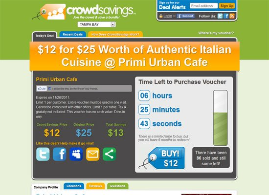 Crowd Savings - Groupon Style Website Trend - How it Works?