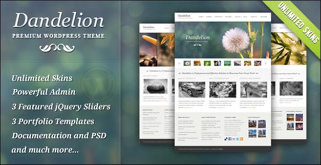Sideways Portfolio Website WordPress Theme