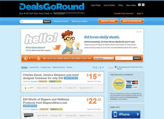 Deals Go Round - Groupon Style Website Trend - How it Works?