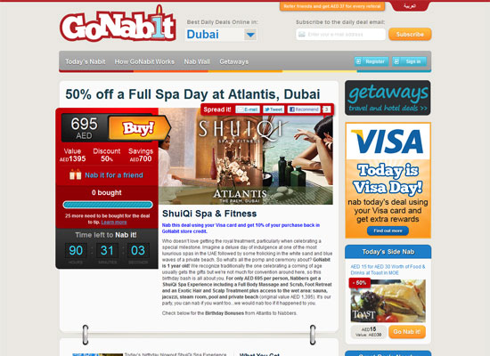 Go Nabit - Groupon Style Website Trend - How it Works?