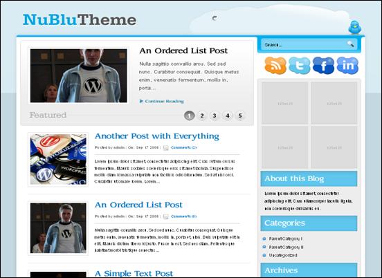 Nublu Premium WordPress Blog & Portfolio Theme