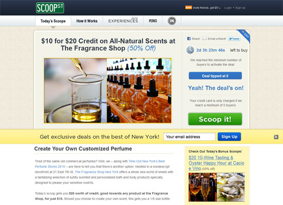 Scoop St. - Groupon Style Website Trend - How it Works?