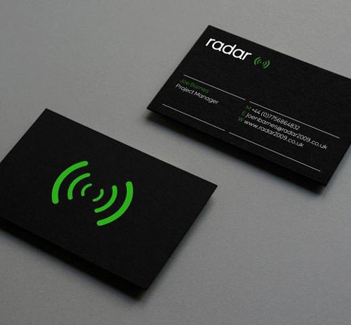 Cool B&W Business Card