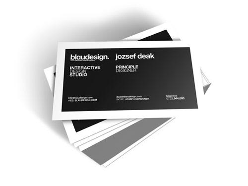Monochromatically Amazing Business Card