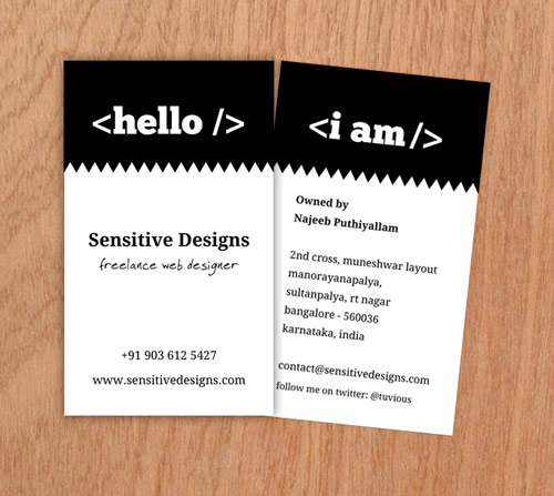 Delightful Business Card