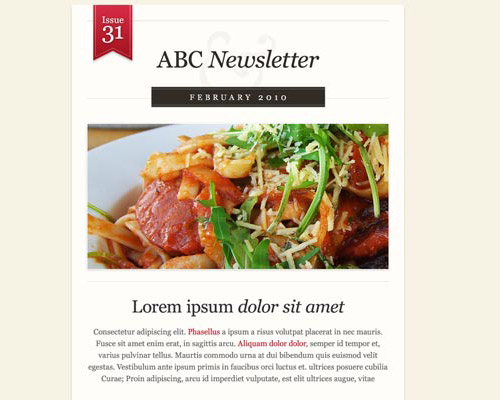 email template free abc newsletter