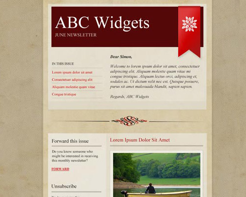 email template free abc widgets