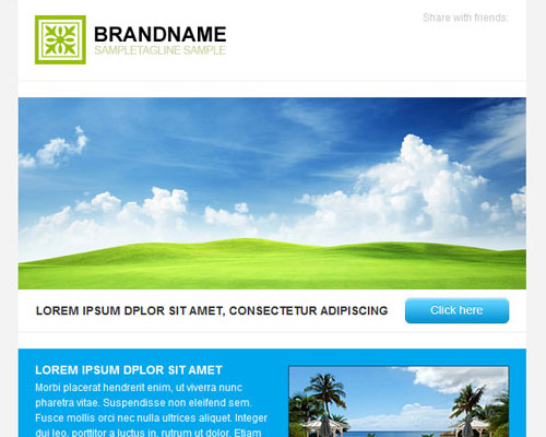 email template free brand