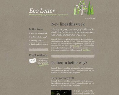 email template free eco