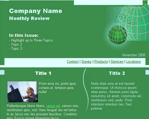 email template free green