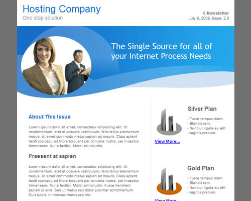 email template free hosting company