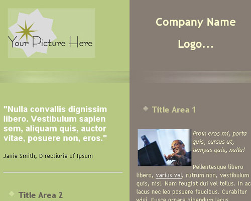 email template free two color