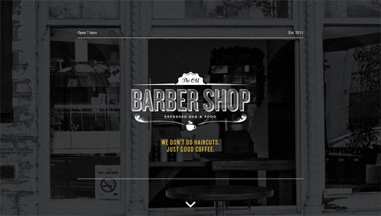Photo background example: The Old Barber Shop