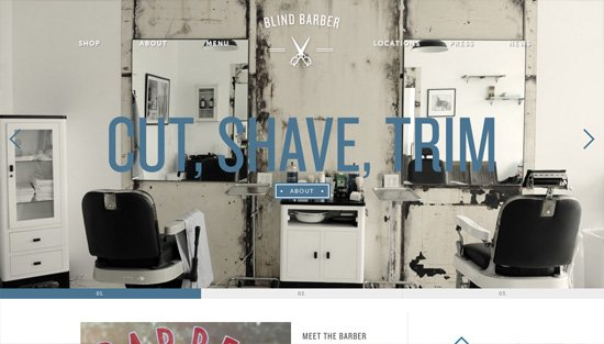 Photo background example: Blind Barber